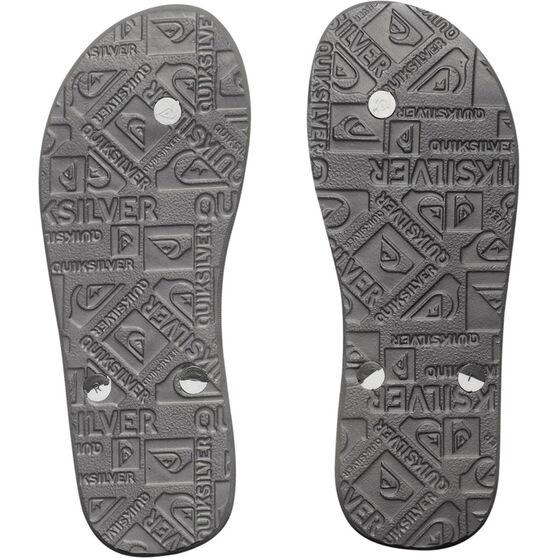 Quiksilver Mens Haleiwa Thongs Black / Grey 8 Black / Grey US 8, Black / Grey, bcf_hi-res