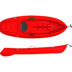 Glide Tyke Junior Kayak and Paddle, Red, bcf_hi-res