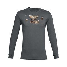 Under Armour Men's Camo Fill Long Sleeve Tee Pitch Gray / Black S, Pitch Gray / Black, bcf_hi-res