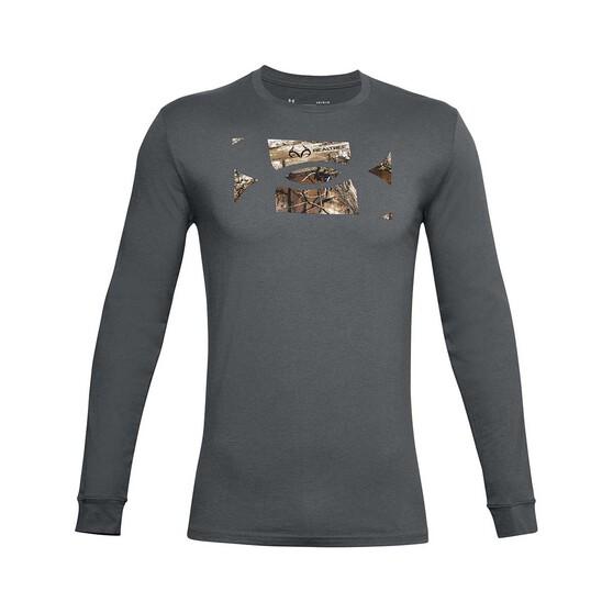 Under Armour Men's Camo Fill Long Sleeve Tee, Pitch Gray / Black, bcf_hi-res