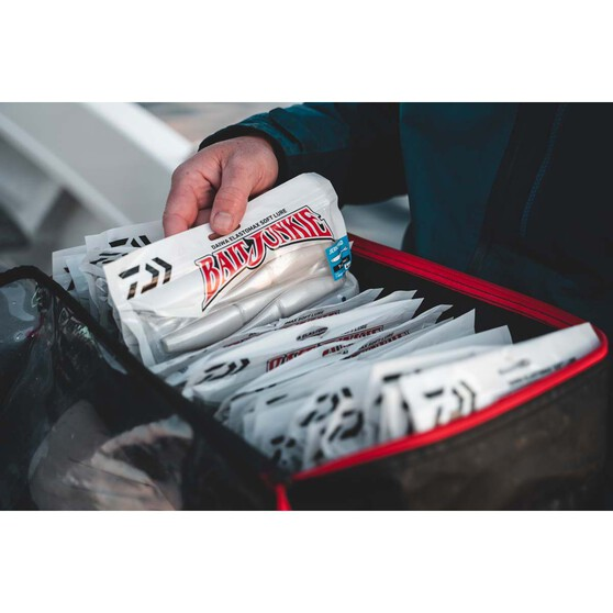 Daiwa BaitJunkie Jerkshad Soft Plastic Lure 5in Whitewash, Whitewash, bcf_hi-res
