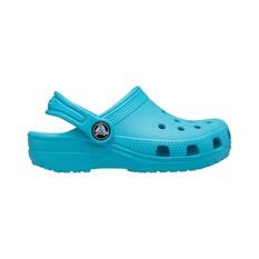 Crocs Classic Kids' Clogs Digital Aqua C7, Digital Aqua, bcf_hi-res