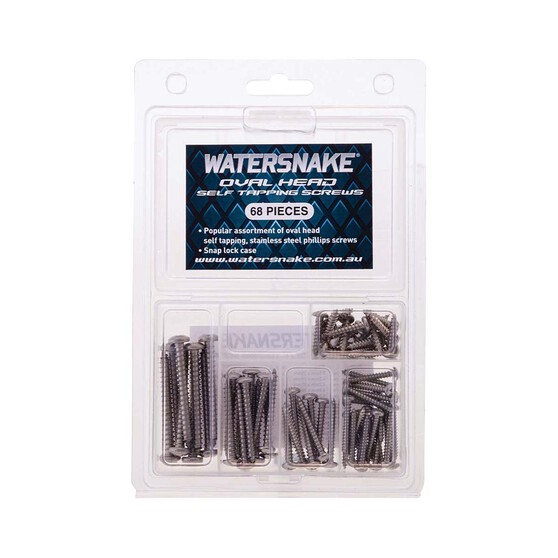 Watersnake Oval Head Self Trapping Screw Kit 68Pcs, , bcf_hi-res