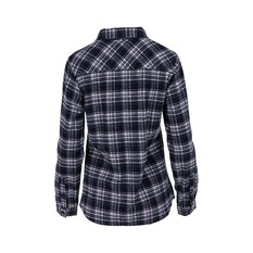OUTRAK Women's Yarn Dye Flannel Shirt Navy / Pink 10, Navy / Pink, bcf_hi-res