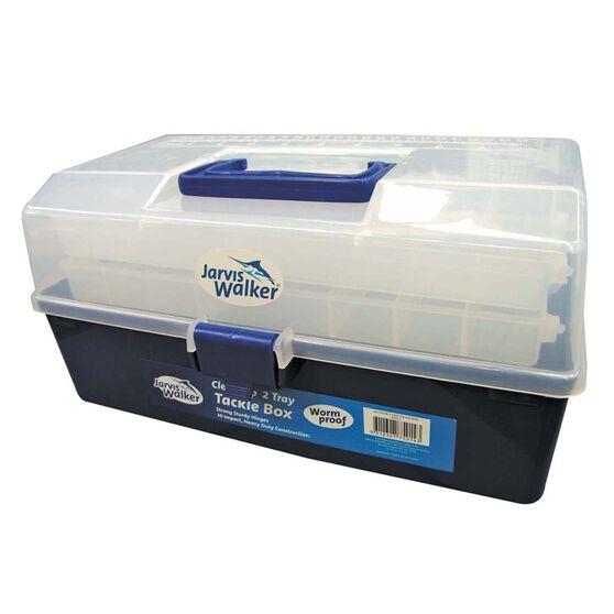 Jarvis Walker Clear 2 Tray Tackle Box, , bcf_hi-res