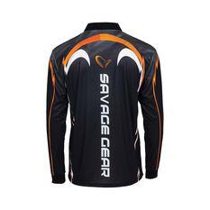 Savage Men's Spanish Mackerel Sublimated Polo, Black, bcf_hi-res