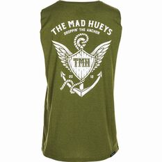 The Mad Hueys Men's Droppin The Anchor UV Muscle Tee Khaki S, Khaki, bcf_hi-res