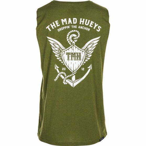 The Mad Hueys Men's Droppin The Anchor UV Muscle Tee, Khaki, bcf_hi-res