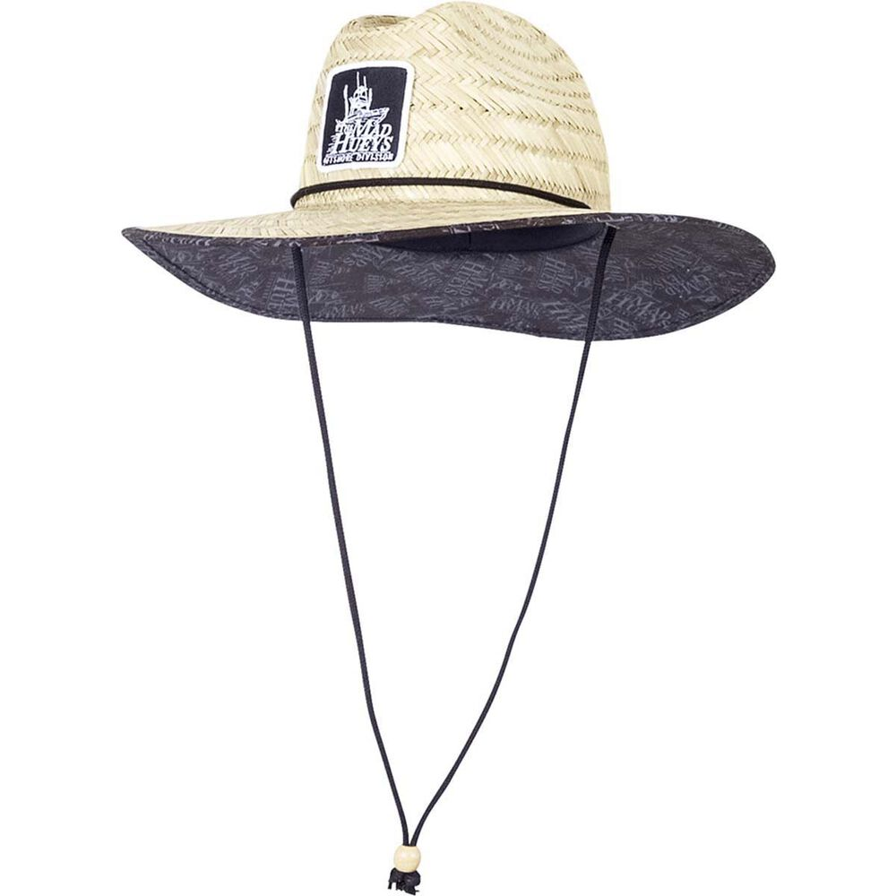 e293698b06a The Mad Hueys Men s Patch Logo Straw Hat