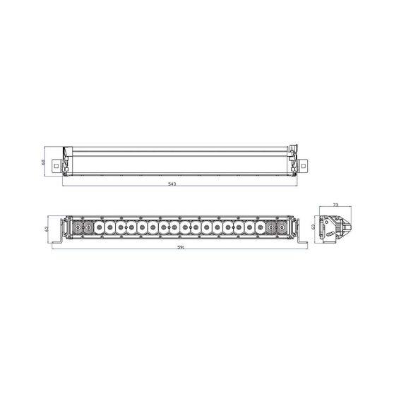 XTM 21in 100W Slimline LED Light Bar, , bcf_hi-res