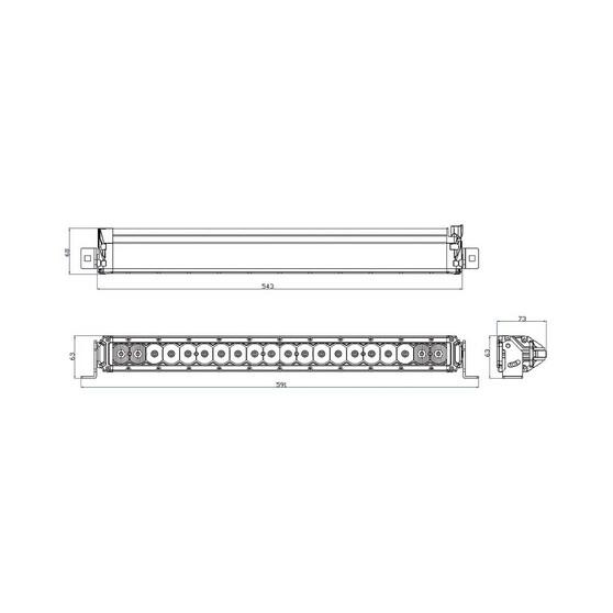 XTM Slimline LED Light Bar 21in, , bcf_hi-res