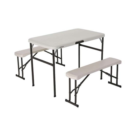 Lifetime Folding Picnic Table and Bench Set, , bcf_hi-res