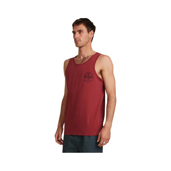 Quiksilver Waterman Men's Jaws of Line Tank, Burnt Russet, bcf_hi-res