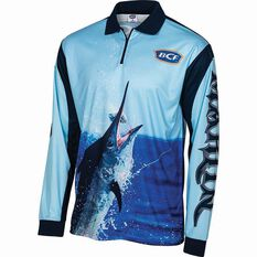 BCF Men's Marlin 19 Sublimated Polo Navy S, Navy, bcf_hi-res