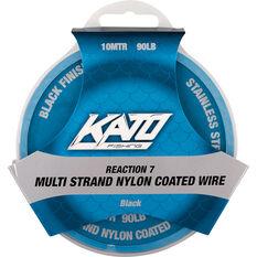 Kato 7 Strand Nylon Coated Wire Black 10m 20lb, Black, bcf_hi-res