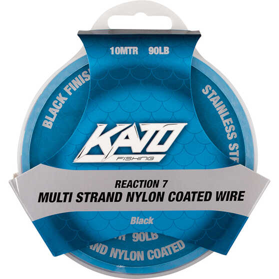 Kato 7 Strand Nylon Coated Wire, Black, bcf_hi-res