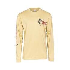 The Great Northern Brewing Co. Men's Long Sleeve Tee Light Sand S, Light Sand, bcf_hi-res