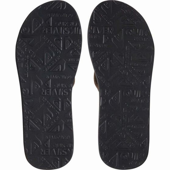 Quiksilver Men's Carver Suede Thongs, Black, bcf_hi-res
