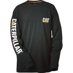 CAT Men's Trademark Long Sleeve Tee Black S, Black, bcf_hi-res
