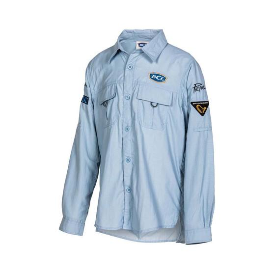 BCF Youth Long Sleeve Fishing Shirt Spray 8, Spray, bcf_hi-res