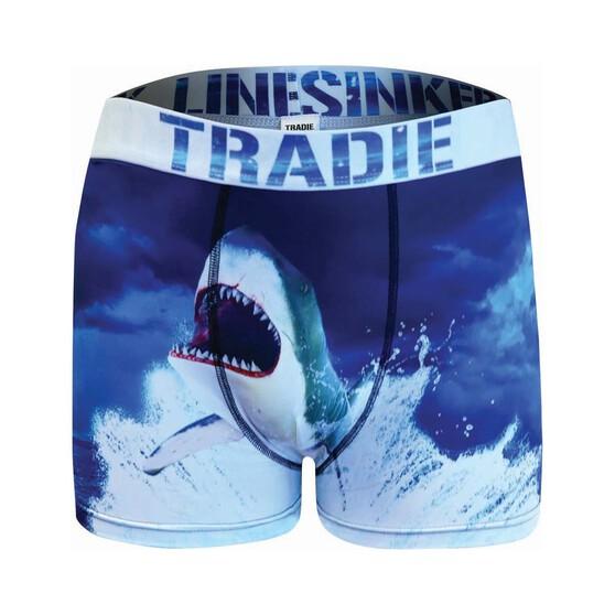 Tradie Men's Hungry Shark Trunks, Print, bcf_hi-res