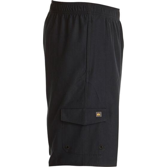 Quiksilver Men's Balance Wordmark Volley Shorts, Black, bcf_hi-res