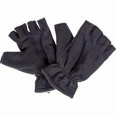 Outdoor Expedition Unisex Polar Fingerless Gloves Black 8.5, Black, bcf_hi-res