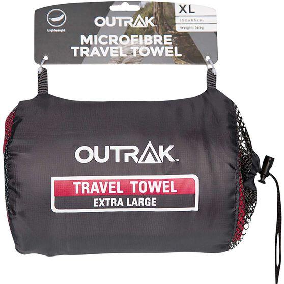 Outrak Microfibre Towel - Extra Large Deep Red, Deep Red, bcf_hi-res