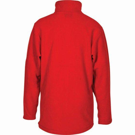 OUTRAK Kids' Basic Fleece Jacket Red 12, Red, bcf_hi-res