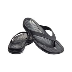 Crocs Womens Swiftwater Flip, Black, bcf_hi-res