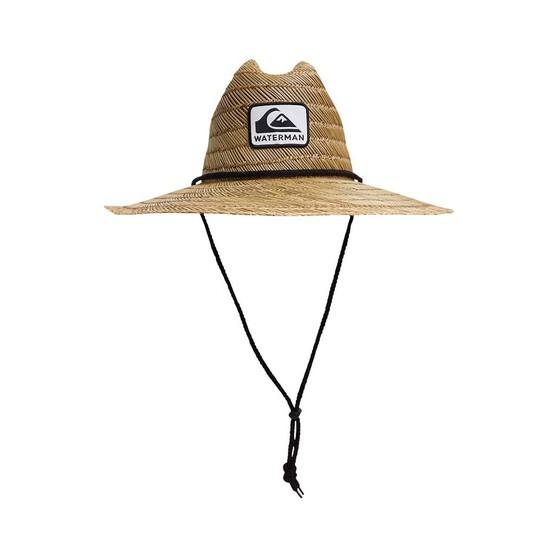 Quiksilver Waterman Men's The Tier Straw Hat, Natural, bcf_hi-res
