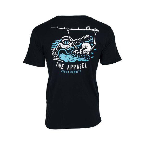 Tide Apparel Men's Bandit Tee, Black, bcf_hi-res