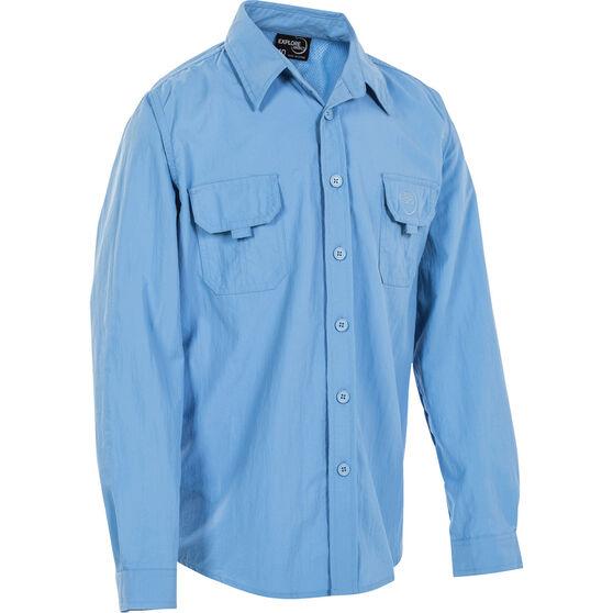 Explore 360 Kids' Vented Long Sleeve Fishing Shirt, Blue, bcf_hi-res