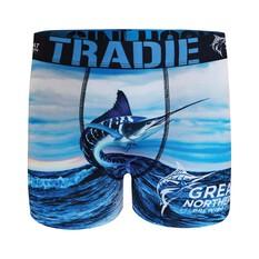 Tradie Men's Great Northern Jumping Fish Trunk Print S, Print, bcf_hi-res