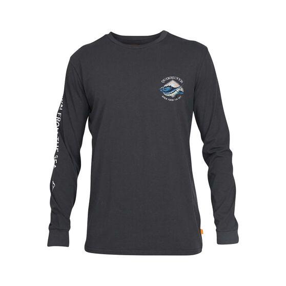 Quiksilver Waterman Men's Oceans Embrace Long Sleeve Tee, Dark Shadow, bcf_hi-res