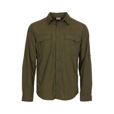 OUTRAK Men's Long Sleeve Hiking Shirt Khaki S, Khaki, bcf_hi-res