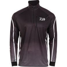 Daiwa Men's Team Sublimated Polo Black S, Black, bcf_hi-res