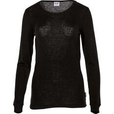 Women's Polypro Long Sleeve Top Black 8, Black, bcf_hi-res