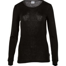 OUTRAK Women's Polypro Long Sleeve Top Black 8, Black, bcf_hi-res