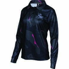 The Mad Hueys Women's Offshore Division Camo Fishing Jersey Black XS, Black, bcf_hi-res