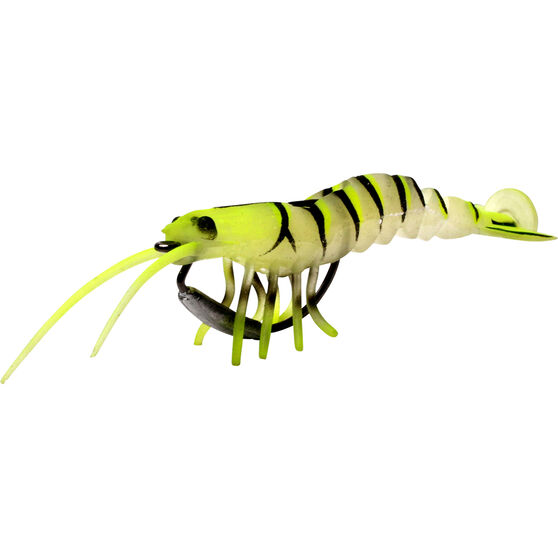 Savage 3D Shrimp Soft Plastic Lure 3.5in Chartreuse Glow, Chartreuse Glow, bcf_hi-res