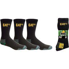 Men's 3 Pack Bamboo Socks Black M, Black, bcf_hi-res
