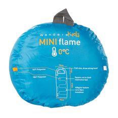 Wanderer MiniFlame Single Hooded Sleeping Bag Blue / Orange, Blue / Orange, bcf_hi-res