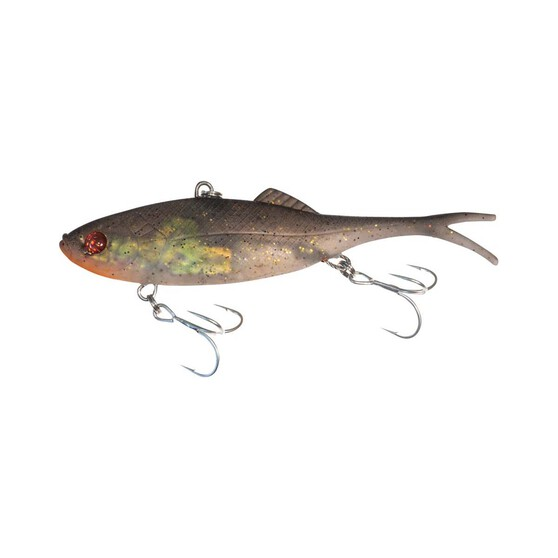 Berkley Shimma Shad Fork Tail Vibe Lure 65mm Gold Ticket, Gold Ticket, bcf_hi-res