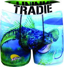 Tradie Men's Flathead Trunk Print S, Print, bcf_hi-res