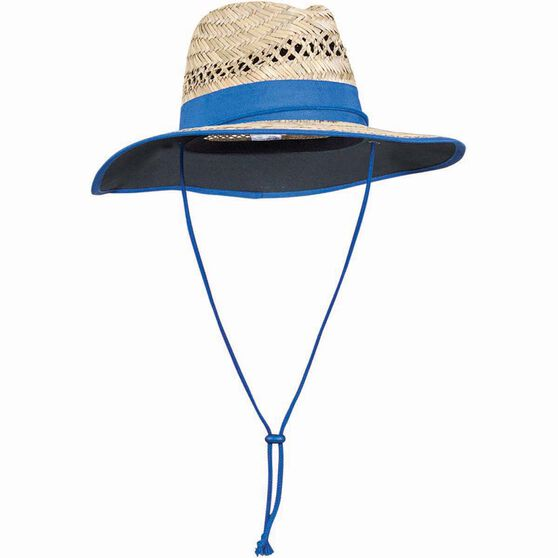 Outdoor Expedition Kids' Straw Hat Natural / Black 54cm, Natural / Black, bcf_hi-res