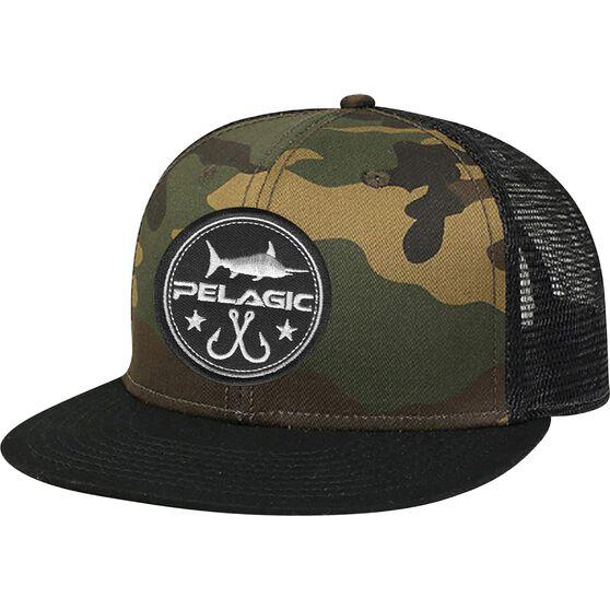 PELAGIC INC Men's Circle Patch Trucker Cap, , bcf_hi-res