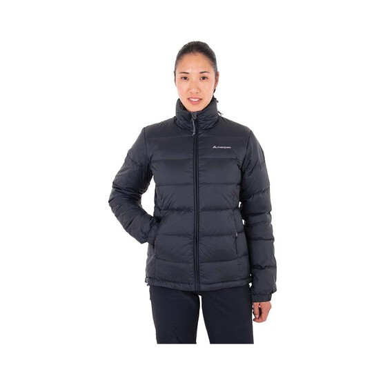 Macpac Women's Halo Hooded Down Jacket Black 12, Black, bcf_hi-res