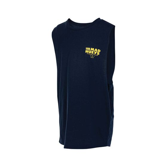 The Mad Hueys Youth The Catch UV Muscle Tank, Navy, bcf_hi-res