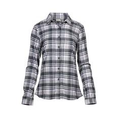 OUTRAK Women's Yarn Dye Flannel Shirt Grey / Purple 14, Grey / Purple, bcf_hi-res